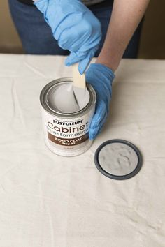 Stirring gray bond coat from Cabinet Transformations kit