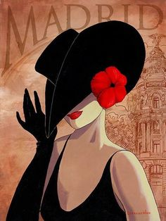 -The lady in the red hat ~