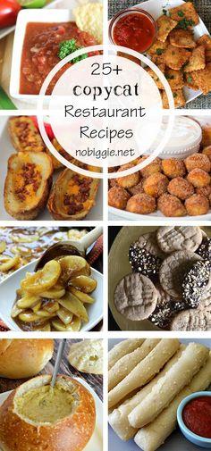 25+ CopyCat Restaurant Recipes   NoBiggie.net