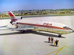 PSA Gets Its First Boeing 727 | PSA ( Pacific Southwest Airlines ) 1st Boeing 727 on about 4/5/65.