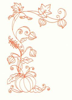 Pumpkin border free sketch file studio and svg formats