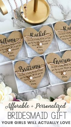 Timeless Bridesmaid Gift Idea Affordable & personalized bridesmaid gift favor that is the perfect surprise your girls will love! Timeless bridesmaid g. Bridesmaid Favors, Bridesmaid Proposal Gifts, Wedding Gifts For Bridesmaids, Personalized Bridesmaid Gifts, Gifts For Wedding Party, Party Gifts, Wedding Favors, Wedding Ideas, Will You Be My Bridesmaid Gifts