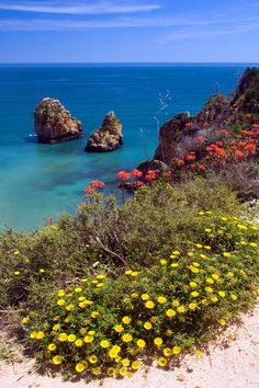 Atlantic coast of the Algarve in Portugal