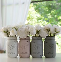 - painted-distressed-mason-jars-pink-grey-chalk-paint (3 of 21) 2