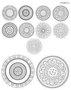 Daum 블로그 - 이미지 원본보기 China Art, Motif Design, Doodle Art, Blackwork, Decorative Plates, Doodles, Graphic Design, Traditional, Drawings