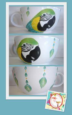Tazón para sopas - Pintura sobre porcelana