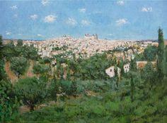 Landscape of Toledo, Spain Painting Oil On Canvas, Canvas Art, Toledo Spain, Paper Flower Tutorial, Impressionism Art, Kids House, Landscape Paintings, Paper Flowers, Saatchi Art