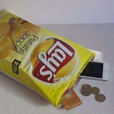 bolsa em formato de lays