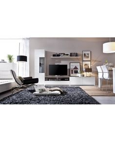Composicion de comedor de estilo nordico. Estos muebles de comedor o salon son de primera calidad y destacan por su diseño moderno y sus grandes acabados