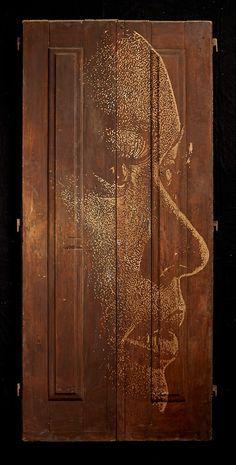 Vhils - Substraction Street artist. http://www.widewalls.ch/artist/vhils/
