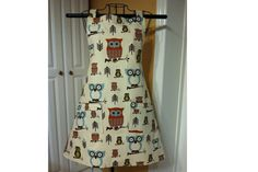 Owl Apron  Ladies teens women by SpicyAprons on Etsy, $35.99