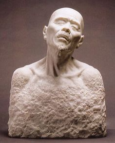 Sculpture by Uzan SHIRAI (1864-1928), Japan 白井雨山