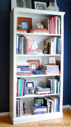 How To Achieve a Wall Styled Bookcase by @Jenna_Burger