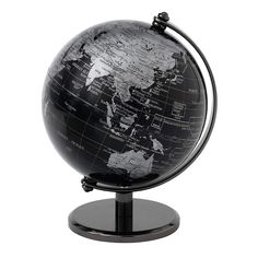 The Globe Collection - Black World Map Globe - - - New Best Amazon Deals, World Globes, Map Globe, Home Decor Items, Contemporary, Modern, Cool Things To Buy, Chrome, Desktop