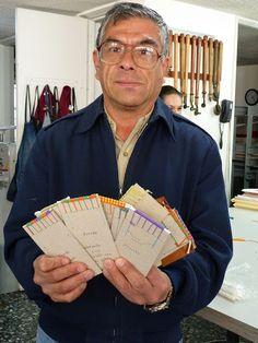 Alberto Chiaramonte with handband samples