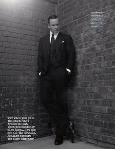 Michael Fassbender  for British GQ February 2014 - photos by Jean Baptiste Mondino