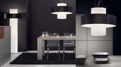 Deckenbeleuchtung mit Design Lampenschirme