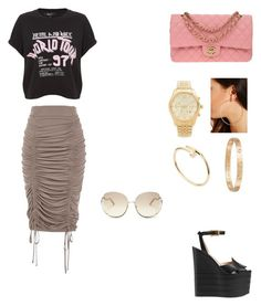 """""""Untitled #133"""" by gcardentey on Polyvore featuring River Island, Gucci, Chanel, Forever 21, Michael Kors, Cartier and Chloé"""
