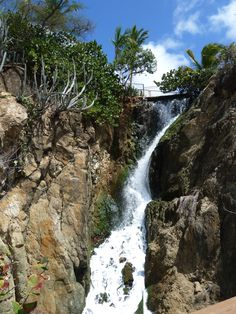 Waterfall at Marriot Frenchman's Reef, St. Thomas, USVI