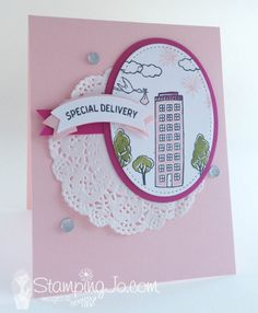 In the City, baby card, Stampin Up