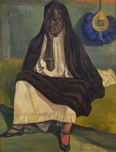 Emile Bernard (French: 1868 - 1941) - Portrait of a Woman (1919)