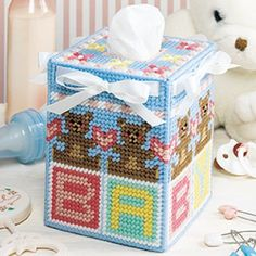 Nursery Tissue Box Cover Plastic Canvas ePattern