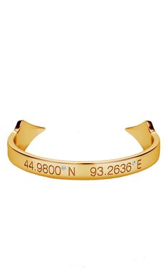 """""""Meridian Bracelet."""" Get it engraved with custom coordinates to remember a special trip, your favorite place, or just point to home."""