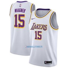 a7ce03015 Maillot NBA Nike Los Angeles Lakers NO.15 Moritz Wagner Blanc Association  2018-19
