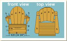 adirondack chair elevation views