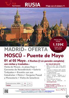 Oferta RUSIA todo incluido- Moscú salida desde Madrid - Puete de Mayo. Precio final desde 1.159€ - http://zocotours.com/oferta-rusia-todo-incluido-moscu-salida-desde-madrid-puete-de-mayo-precio-final-desde-1-159e-11/