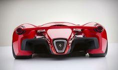 Idem conceito nave, vista traseira Designer cria conceito de Ferrari futurista - carros - Jornal do Carro