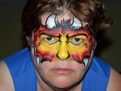 face painting ideas | Face Painting Designs for Adults flame face painting – Face Painting ...