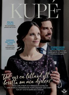 Their Royal Highnesses Prince Carl Philip & Princess Sofia of Sweden are featured on the cover of Kupé Magazine | November 2017
