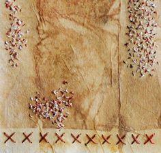 Hand Embroidery on Teabag / Hand Stitched Meditation Sampler