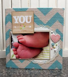 """You"" Mini Album - Scrapbook.com - Document the first 6 months of baby's life with Simple Stories."