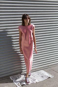 Tome Business Profile, Dress Backs, Spring Summer Fashion, Pink Dress, Cinema, Fabrics, Colours, Shirt Dress, Shapes