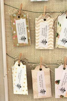 How to make an Advent calendar with paint chips, Advent, calendar, diy, craft, Christmas craft, decor, fun