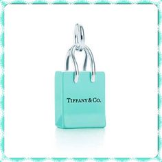 Charm in sterling silver with Tiffany Blue enamel finish. $225