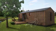 Mobilní dřevostavba: Dům do 2 měsíců a kdekoliv | Dům a zahrada - bydlení je hra Tiny House, Shed, Deck, Outdoor Structures, Cabin, House Styles, Outdoor Decor, Home Decor, Decoration Home