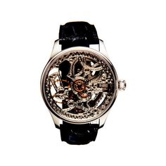 Skeleton Watches - Watch Gears - Womens Watches - Marie Claire found on Polyvore featuring polyvore, fashion, jewelry, watches, orologi, skeleton jewelry, skeleton watches, skeleton wrist watch and skeleton wristwatch
