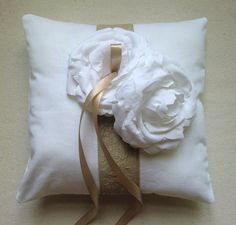 This Handmade Wedding Ring Pillow is perfect for romantic, rustic and vintage inspired weddings. | Green Bride Guide