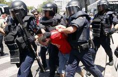 Reprime policía española marcha contra recortes | Info7 | Internacional