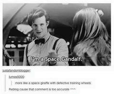 Doctor Who Space Gandalf more like a giraffe
