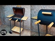 Bbq Grill Diy, How To Grill Steak, Window Grill Design Modern, Outdoor Kitchen Design, Oil Drum Bbq, Build A Pizza Oven, Custom Bbq Pits, Outdoor Chairs, Decoration