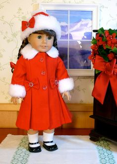 Christmas Dress Coat  by Calyxadollcreations on Etsy