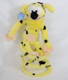 "Vintage 1980s Disney Marsupilami 13"" Stuffed Plush Spring Coil Tail Applause…"