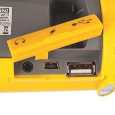 Urgent Énergie Bleu USB Manivelle Sos Chargeur Camping de Survie PLASTIQUE