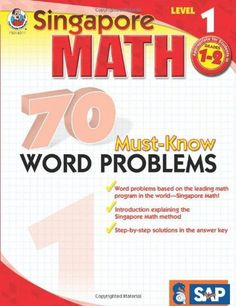 Title : 70 Must-Know Word Problems, Grades 1 - 2 (Singapore Math). Notes : New unread book. May have chip/folds/creases/scratches/scuff marks to cover and spine. Bargain Hunter Find (Try). Product Details. | eBay!