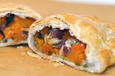 Pumpkin, squash, sage and parmesan pasty. Ever since we visited Cornwall earlier this year, we have been waiting for cooler weather to bake up our own version of the iconic pasty (pronounced PAST-ee). This week, a chill finally blew in and we had a winter squash from the farmers' market and a craving for buttery shortcrust...