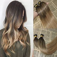 18'' I-Tip Remy Human Hair Extensions Balayage Color  #PersonalCare